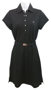 Callaway short dress Black Cotton on Tradesy