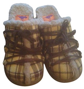 Rocket Dog Size 7 Brown and yellow Mules
