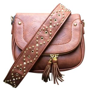 Other Guitar Strap Studded Gold Hardware Cross Body Bag