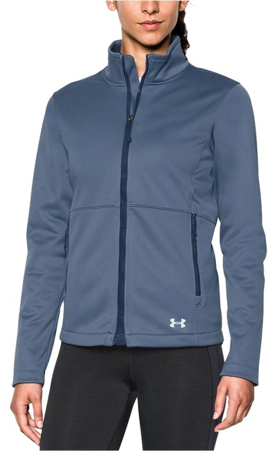 Item - Aurora Purple (767)/Faded Ink Womens Coldgear Infrared Softshell Jacket Large Activewear Size 12 (L)