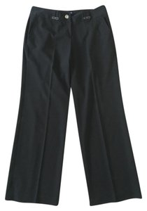Larry Levine purple Wide Leg Trouser Pants Black