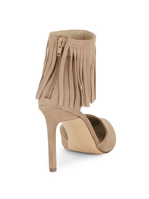 Item - Beige Natural Memoo Suede Fringe Pumps Size US 7.5 Regular (M, B)