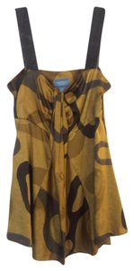 Vera Wang Top Mustard/Grey/Black