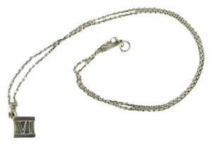 Tiffany & Co. Tiffany & Co. Sterling Silver Roman Numeral Atlas Cube Necklace