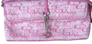 Coach pink and silver Clutch