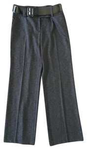 AB Studio Black Grey Trouser Pants Grey/black