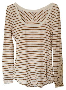 Free People T Shirt Cream