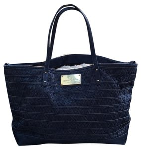 Rebecca Minkoff Leather Large Satchel Gold Hardware Everywhere Tote in Blue