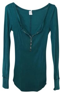 Free People T Shirt Forest Green