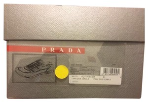 Prada yellow and grey suede and nylon shoe Athletic