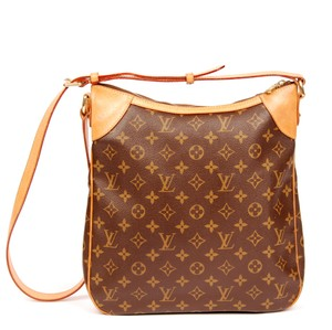 Louis Vuitton Monogram Odeon Mm Leather Cross Body Bag