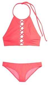 Victoria's Secret New VS Set Swim High Neck Top & Bottoms S