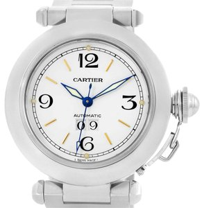 Cartier Cartier Pasha C Midsize Big Date White Dial Steel Watch W31044M7