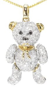 Other 10k Yellow Gold Fashion Love Diamond Teddy Bear Pendant 2.0 Ct