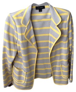 St. John Grey and yello Blazer