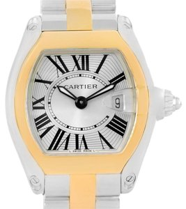 Cartier Cartier Roadster Steel Yellow Gold Small Womens Watch W62026Y4
