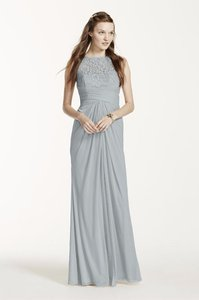 David's Bridal Mystic Grey (new Color) F15749 Dress