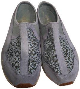 Easy Spirit Walking Comfortable Lace Suede Blue Mules