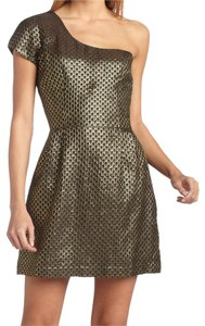 French Connection Prom Nwt Metallic Grecian Dress