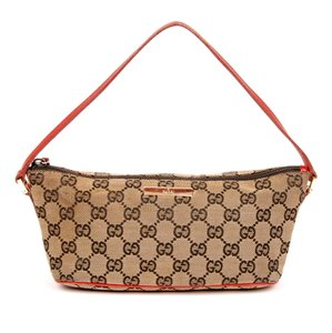Gucci Canvas Satchel Monogram Satchels Wristlet in Black and Red