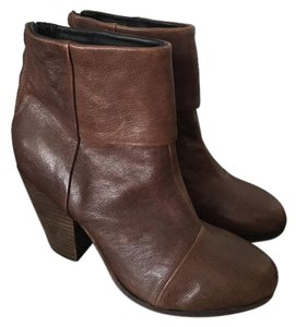 Rag & Bone Leather Ankle Comfort Brown Boots