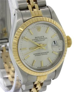 Rolex Rolex DateJust 26mm 69173 Jubilee Two Tone Gold Steel Silver Watch B&P