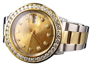 Rolex Datejust Two Tone 36mm 18k S.Steel 16013 Oyster Diamond Watch 7.35 Ct