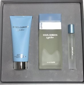 Dolce&Gabbana Light Blue by D&G Women's Set 3.4oz EDT Spry+3.3 oz B/Lotion+ 7.4 ml