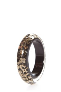 Louis Vuitton Louis Vuitton Black & Gold Lucite Inclusion Bangle