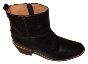 Madewell Stitched Sole Leather Lined 6 Inch Zipper Black Boots