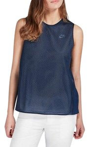 Nike Nike navy blue active training mesh sleeveless top