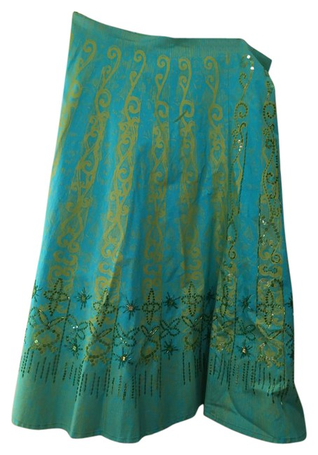 Item - Turquoise Sequin Skirt Size 12 (L, 32, 33)