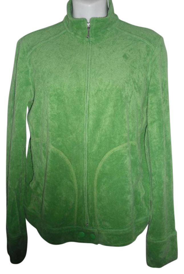 c8e87af71629 Juicy Couture Kelly Green Velour Rare Jacket Size 16 (XL