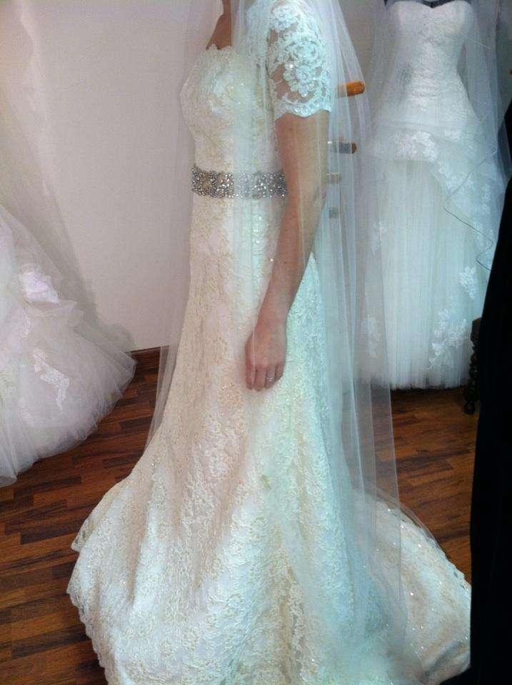 Augusta Jones Ivory Lace with Sequins 589gshruoff Formal Wedding ...