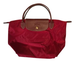 Longchamp Pliage Travel Mini Packable Tote in Red