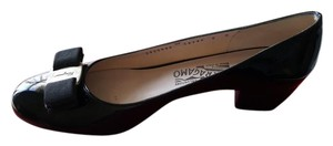 Salvatore Ferragamo Patent Leather Luxury Black Pumps