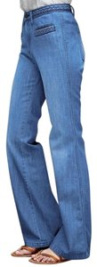 Gap 1969 Denim Braid Cotton Flare Leg Jeans-Medium Wash
