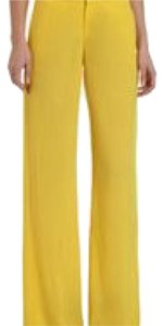 Helmut Lang Wide Leg Pants yellow