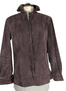 Alfani Suede Longsleeve Shirt Brown suede Leather Jacket