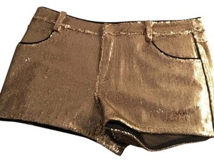 Juicy Couture Party Sequin Dryclean Only Shorts Gold