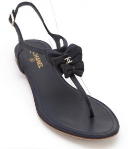 Chanel Midnight Sandals