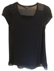 The Limited Sheer Panel Classic Top Navy