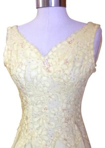 Yellow Chiffon And Lace Dress