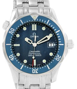 Omega Omega Seamaster Blue Dial Steel Midsize Watch 2561.80.00 Box Papers