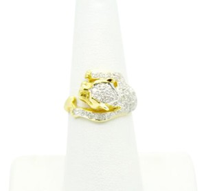 NYCFineJewelry Diamonds Tiger Ring 14K Yellow Gold 0.5CT TGW