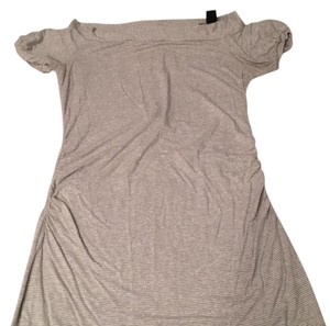 Arden B. T Shirt grey & white