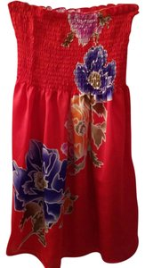 Forever 21 short dress Red floral on Tradesy