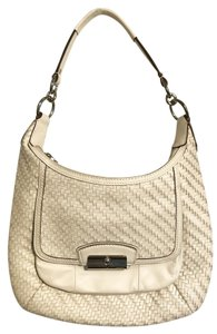 Coach Woven Leather Hobo Bag