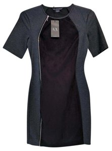 A|X Armani Exchange Bodycon Faux Suede Dress