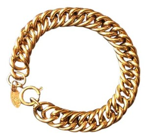Chanel CHANEL GOLD PLATED CHAIN LINK BRACELET